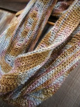 Crochet Cowl, Original 'Patina' Design